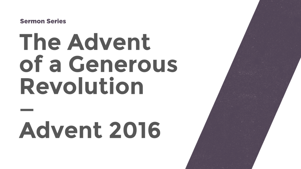 The Advent of a Generous Revolution series image